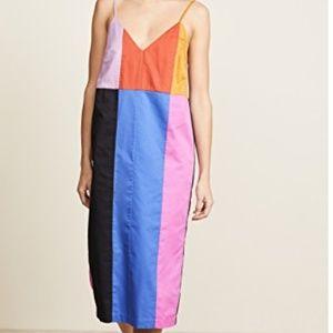 Mara Hoffman Color-block Midi Dress